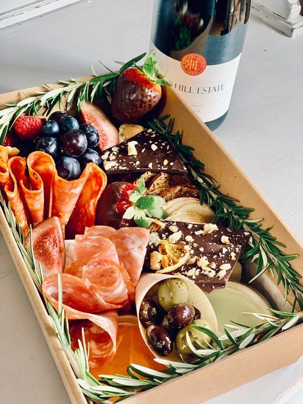 Small grazing box platter